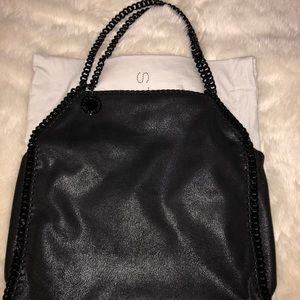 Small Falabella shaggy deer bag, black chain